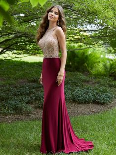 Morilee Fitted Jersey Prom Dress Featuring a Fully Beaded, Sheer Bodice. A Double Strap T-Back Completes the Look. We carry formal gowns for every occasion including prom. Prom Party Dresses, Evening Dresses, Bridesmaid Dresses, Grad Dresses, Stunning Prom Dresses, Beautiful Dresses, Mori Lee Dresses, Moda Formal, Strapless Dress Formal