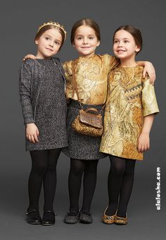 ALALOSHA: VOGUE ENFANTS: Holiday collection 2013/2014 for girls from Dolce&Gabbana