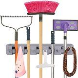 [Best Mop and Broom Holder Ever] Anybest®Mop and Broom Holder, Wall Mounted Garden Tool Storage Tool Rack Storage & Organization for Your Home, Closet, Garage and Shed, Holds Up To 11 Tools,Superior Quality Tool Rack Holds Mops, Brooms, or Sports Equipment (5-Position) - http://howtomakeastorageshed.com/articles/best-mop-and-broom-holder-ever-anybestmop-and-broom-holder-wall-mounted-garden-tool-storage-tool-rack-storage-organization-for-your-home-closet-garage-and-shed-h