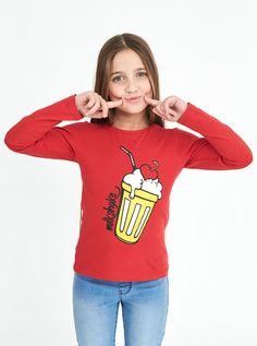 T-shirt con stampa #kids #girl #pinterest #pinit #wearepeople #look #piazzaitalia #look #fashionkids