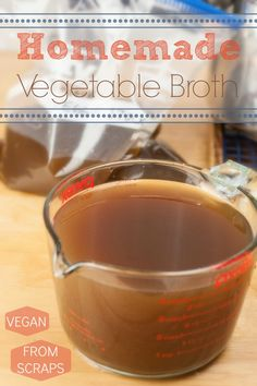 Homemade Vegetable Broth | Produce On Parade - Made from vegetable scraps and trimmings! Couldn't be easier and no waste!