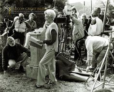"""Falcon Crest Photo of the Week! Lana Turner on the set Episode #012 (1x12) """"Family Reunion"""" ☞ Please share with your friends, like and comment ☜ #falconcrest #soapoperas #80s #tvshows"""