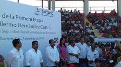 Realiza Yarith Tannos gira con el gobernador por Tuxtepec.