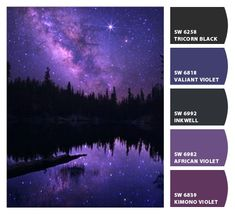 Purple galaxy palette. Paint colors from Chip It! by Sherwin-Williams