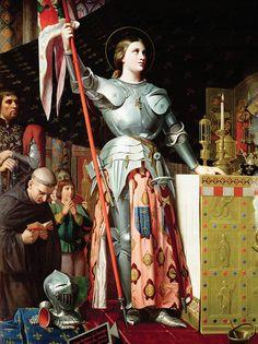 Ingres coronation charles vii - Jean-Auguste-Dominique Ingres - Juana de Arco en la coronación de Carlos VII, 1854.