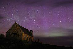 Church of the Good Shepherd, Lake Te Kapo, Aotearoa, New Zealand - just a regular starry night New Zealand Lakes, Free Sky, Photo Supplies, Lake Tekapo, The Good Shepherd, Clear Sky, Ultimate Travel, Stargazing, Places To See