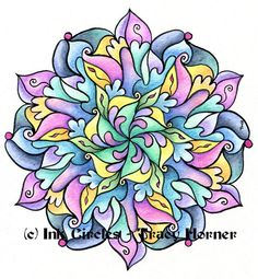 Print of original mandala by Tracy Horner by InkCircles on Etsy, $15.00