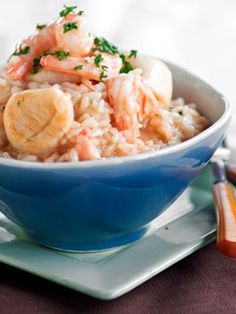 Recipe for Scallop & Shrimp Risotto | DeLallo Recipes