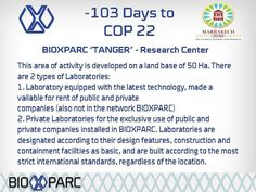 Follow our countdown to #cop22 #Marrakech #morocco #bioxparc #biotechnology #science #tanger #research