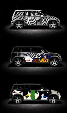 Sephora wanted to launch a same-day delivery service for online cosmetics sales in New York. We designed a series of six different head-turning MINI Cooper wraps for their fleet of six vehicles. We were going for bold designs that will really stand out in the busy New York street scene, among the taxis and delivery vehicles.