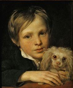 Varnek (Varnik), Aleksandr Grigoryevich Boy with a lapdog 1810s