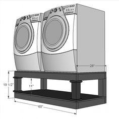 Sasha's 500Dryer Pedestals:ana-white.com