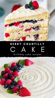 Do you wanna make Berry Chantilly Cake?, you can visit the site. This decadent berry chantilly cake is a must for berry season! Cake Filling Recipes, Easy Cake Recipes, Delicious Recipes, Dessert Recipes, Chantilly Cake Recipe, Berry Chantilly Cake, Baking Powder Ingredients, Cheese Ingredients, Fruit Cakes