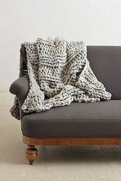Next craft, I want to make a chunky knitted throw like the ones at Anthropologie. :)