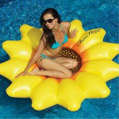 """HOT!! Giant Inflatable 72"""" Sunflower Island Swimming Pool Raft Float   180CM heronsbill Inflatable Seat-On Pool Toy Float 90543"""