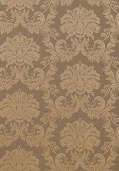 SYMPHONY DAMASK, Metallic on Taupe, T7636, Collection Damask Resource 3 from Thibaut