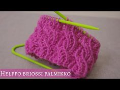 Helppo briossi palmikkoneule | Joustinneuleita | Neulo Beyond The Loopsin kanssa - YouTube Needlework, Knitting Patterns, Crochet Necklace, Projects To Try, Crochet Hats, Youtube, Handmade, Fabrics, Dots