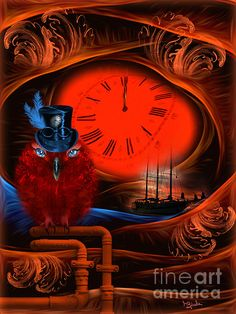 Born To Travel In Time - Fantasy Art by Giada Rossi Fine Art Prints and Posters for Sale Fantasy Kunst, Fantasy Art, Collage, Fantasy Images, Red Art, Sale Poster, Time Art, Portrait, Artist At Work