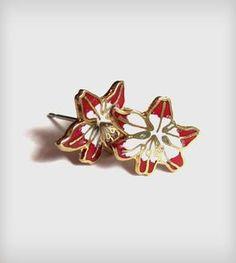 Japanese Floral Stud Earrings