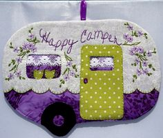 Happy Camper 57 Mug Rug