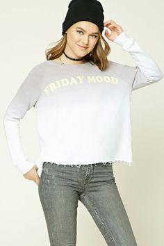 Friday Mood Dip-Dye Sweatshirt