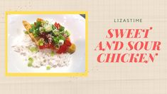HOW TO COOK SWEET AND SOUR CHICKEN WITH RICE from Hello Fresh Sweet N Sour Chicken, Chicken Rice, Cooking Box, Chicken Breast Fillet, Cooking Together, Chicken Recipes, Stuffed Peppers, Fresh, Make It Yourself
