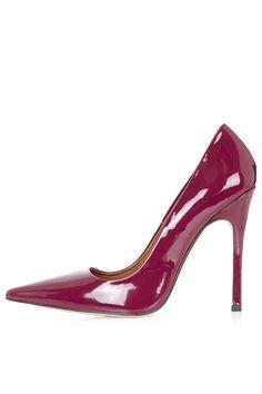 Topshop GALLOP Patent Court Shoes #heels #shoes