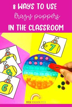 Here are some tips and ideas for using sensory poppers in your classroom to help teach sight words, cvc, number facts and more math ideas. A great way to engage young students in center activities.