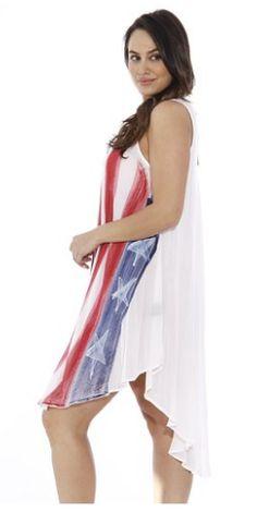 f15d1b5858bb 21517XX Riviera Sun American Flag Dress   USA Plus Size Summer Dresses at  Amazon Women s Clothing store