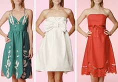 Betsey Johnson's adorable summer frocks would make lovely bridesmaid dresses for an outdoor wedding.