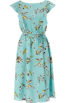 If I were to get this dress, I'd totes experiment with pin curls and -- gasp -- wear some heels.