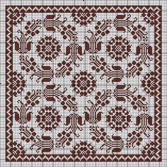 Cross Stitch Borders, Cross Stitch Rose, Cross Stitch Flowers, Cross Stitching, Cross Stitch Embroidery, Embroidery Patterns, Cross Stitch Patterns, Filet Crochet Charts, Crochet Diagram