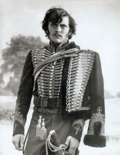 David Hemmings as Captain Louis Nolan of the 15th Hussars in The Charge of the Light Brigade. http://en.wikipedia.org/wiki/Louis_Nolan