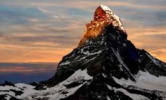 Picture of photographer taking a picture the sunrise over the Matterhorn-Swiss Alps stock photo, images and stock photography. Zermatt, Beautiful World, Beautiful Places, Macro Photographers, Mountain Silhouette, Switzerland Vacation, Some Beautiful Pictures, Best Sunset, Swiss Alps