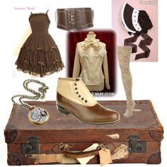"""""""Classical Steampunk Lolita"""" by mandaplz on Polyvore"""