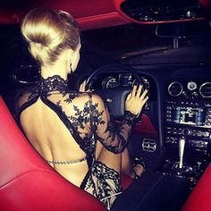 Blond girls and expensive cars?!