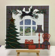 Marianne Designs , window Card, christmas