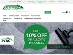 #GoVacuum.com - 10% off select Closeout items.