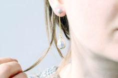 Fall For DIY Geo Faux Labradorite Drop Earrings