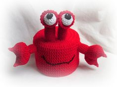 Utensilos & Stoffkörbchen - klopapierhut Krabbe Krebs Toilettenpapierhut - ein Designerstück von contra0815 bei DaWanda