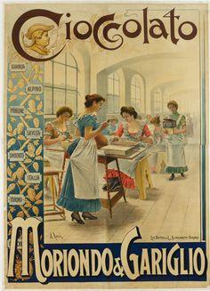 Ephemera Cioccolato Moriondo e Gariglio, Italian Ways Vintage Advertising Posters, Vintage Advertisements, Vintage Ads, Vintage Images, Print Advertising, Advertising Campaign, Print Ads, Vintage Signs, Old Posters