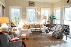 I've loved this room in all its transformations. Savvy Southern Style's sun porch