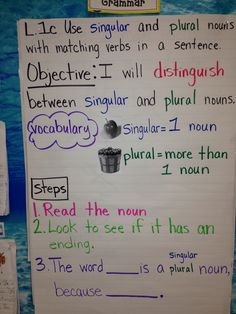 CCSS first grade Singular and plural nouns