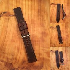 Custom Horween Chromexcel watch strap from 922Leather.com #leathercraft #watchstraps #leathergoods #watchuseek