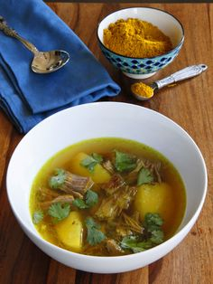 Learn to make Yemenite Soup with Beef or Chicken - traditional spicy soup recipe made with hawayej spicy blend. Warming, filling and full of flavor.