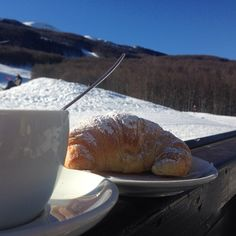 Breakfast on the snow, Cimone Mount - Instagram by marcellavaccari