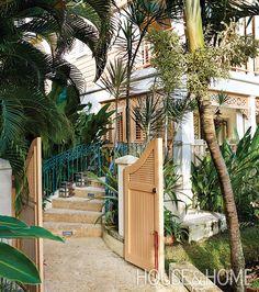 Coral stone steps lead up to Colette's Barbadian home. | Photographer:  Virginia Macdonald  Designer:  Colette van den Thillart