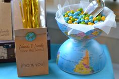 Cute thank you sign and fun idea for serving bowl with world theme #trave #aroundtheworld #wanderlust #nomad #smiles #happiness #expressions #LetsExplore #scuba #diving #adventure #underwater #seabed #sea #life www.guiddoo.com