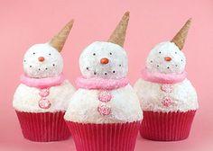 Snowman Cupcakes by Bakerella