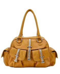 Shoulder Bag with Sequin Decor-SH1030 (Mustard) by Mercury Fashion Station. $39.99